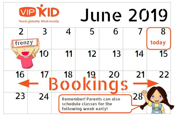 VIPKid Booking Schedules